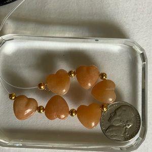 3/$12 Red Aventurine Heart Beads